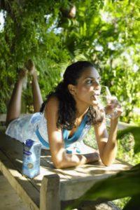 Wasser trinken hält fit